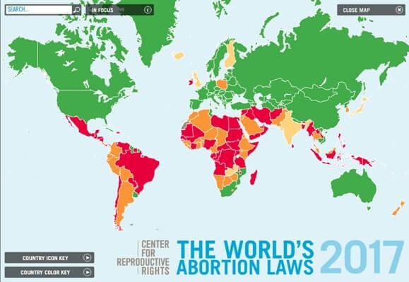 Mapa Interactivo Sobre El Aborto Mundial