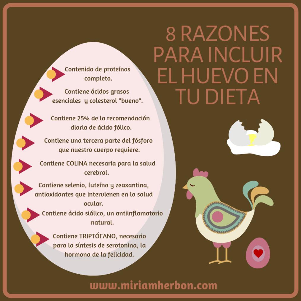 razones para incluir el huevo en tu dieta miriam herbon beneficios de comer huevo